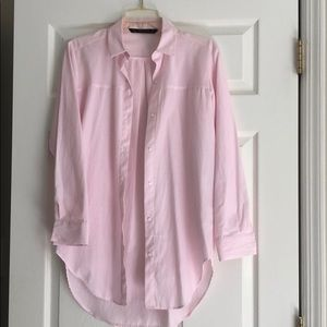 Zara long shirt, pink stripe